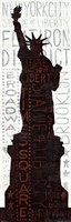 """Statue of Liberty - Red by Michael Mullan - 12"""" x 36"""""""