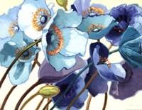 Le Pavots Bleu Fine Art Print