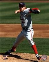Stephen Strasburg 2012 pitching Fine Art Print