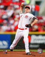 Mat Latos 2012 Action Fine Art Print