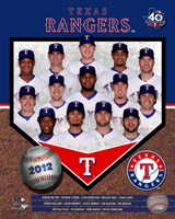 "Texas Rangers 2012 Team Composite - 8"" x 10"" - $12.99"