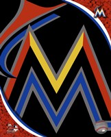 Miami Marlins 2012 Team Logo Framed Print