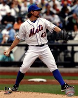 R.A. Dickey 2012 Action Fine Art Print