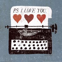 "Vintage Desktop - Typewriter by Michael Mullan - 12"" x 12"""