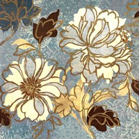 "Sophias Flowers I Blue by Wild Apple Studio - 24"" x 24"""