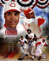 Barry Larkin 2012 MLB Hall of Fame Legends Composite Fine Art Print