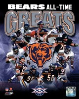 Chicago Bears All-Time Greats Composite Framed Print