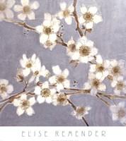 Silver Blossoms I Fine Art Print