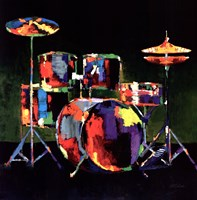 Drum Set - ovsz Fine Art Print