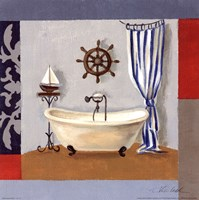 "Nautical Bath II by Silvia Vassileva - 12"" x 12"", FulcrumGallery.com brand"