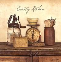 Country Kitchen - square Fine Art Print