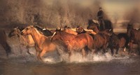 "River Crossing by Patricia Leigh - 30"" x 16"""