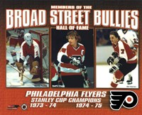 Broad Street Bullies- Bernie Parent, Bobby Clarke, & Bill Barber Framed Print