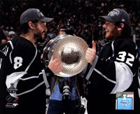 "Drew Doughty & Jonathan Quick with the Stanley Cup Trophy after Winning Game 6 of the 2012 Stanley Cup Finals - 10"" x 8"", FulcrumGallery.com brand"