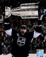 Mike Richards with the Stanley Cup Trophy after Winning Game 6 of the 2012 Stanley Cup Finals Fine Art Print
