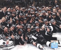 The Los Angeles Kings Team Celebration on ice after Winning Game 6 of the 2012 Stanley Cup Finals Fine Art Print