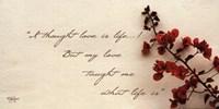 Love Is Life Fine Art Print