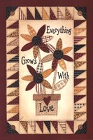 """Everything Grows With Love (quilt) by Linda Spivey - 12"""" x 18"""""""