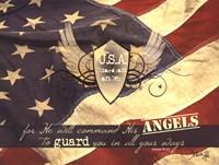 U.S.A Guardian Angel Fine Art Print
