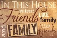 Family & Friends Framed Print
