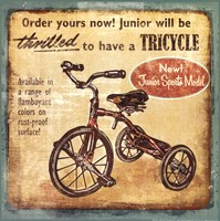 """Tricycle by Mollie B. - 12"""" x 12"""", FulcrumGallery.com brand"""