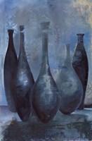 Vases in Blue II Fine Art Print