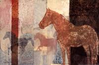 """Patterned Horse II by Dee Dee - 18"""" x 12"""""""