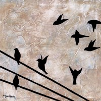 "Birds On A Wire II by Britt Hallowell - 12"" x 12"" - $10.49"