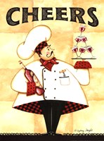 """Chef Cheers by Sydney Wright - 12"""" x 16"""""""