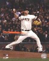 "Matt Cain throws a Perfect Game AT&T Park June 13 with Overlay, 2012, 2012 - 8"" x 10"", FulcrumGallery.com brand"