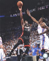 Dwyane Wade Game 2 of the 2012 NBA Finals Action Fine Art Print