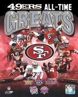 San Francisco 49ers All-Time Greats Composite Framed Print