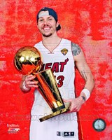 Mike Miller with the NBA Championship Trophy Game 5 of the 2012 NBA Finals Fine Art Print