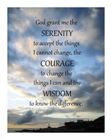 Serenity Prayer - skies Framed Print