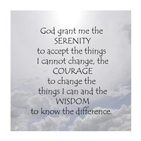Serenity Prayer - clouds Fine Art Print
