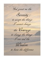 Serenity Prayer - landscape Framed Print