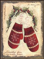 Merry Mittens Fine Art Print