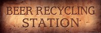 Beer Recycling Station Fine Art Print