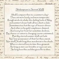 Shakespeare's Sonnet 18 - word frame - various sizes