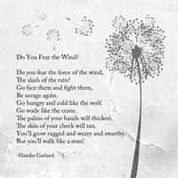 Hamlin Garland - Do You Fear the Wind - various sizes