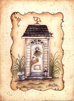 His and Her Outhouse Fine Art Print