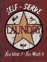 Self Serve Laundry Fine Art Print