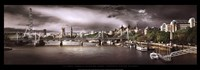 "River Thames, London by Stephanie Rey-Gorrez - 37"" x 13"""