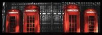 Red Telephone Boxes, London Fine Art Print