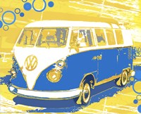 "Vintage VW Bus by Michael Cheung - 20"" x 16"""