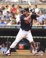 Joe Mauer 2012 batting Fine Art Print
