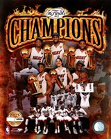 Miami Heat 2012 NBA Champions PF Gold Composite Fine Art Print