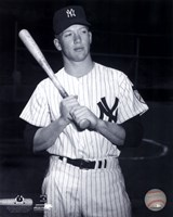 Mickey Mantle Posed Black And White Fine Art Print