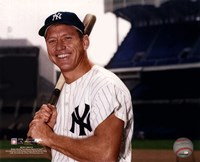 Mickey Mantle Posed With Bat Fine Art Print