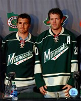 Zach Parise & Ryan Suter 2012 Press Conference Fine Art Print